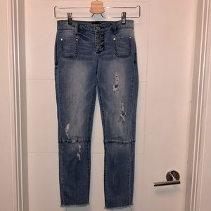 BEBE button fly jeans